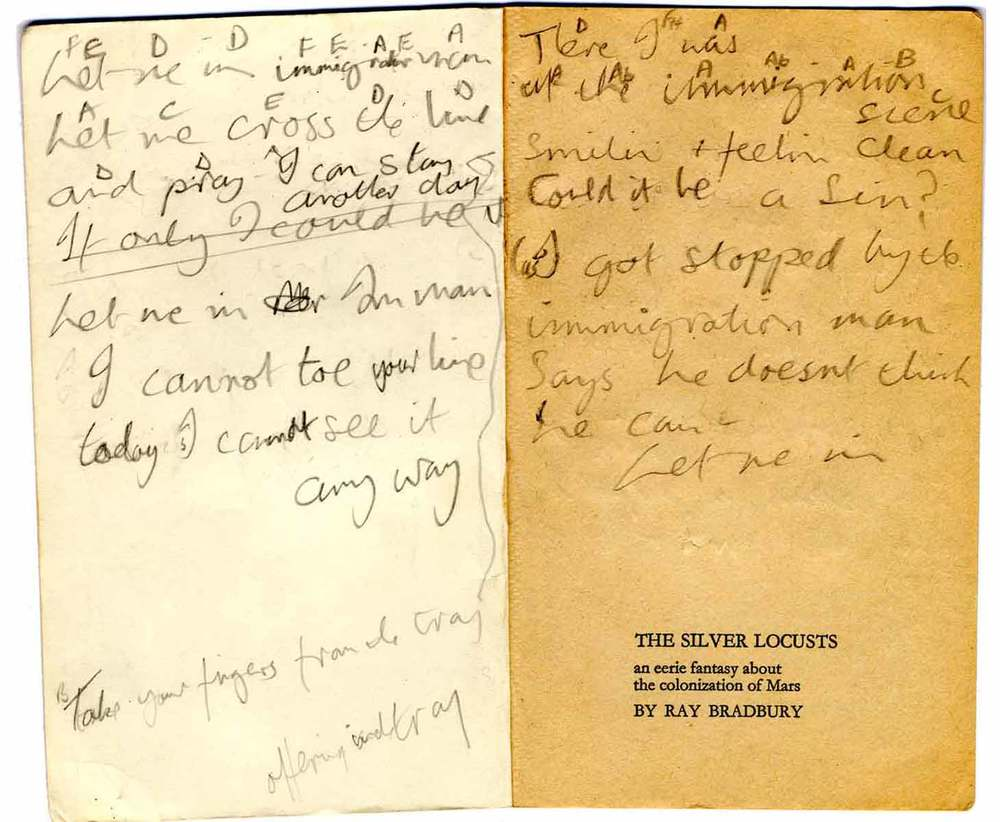 Graham Nash Manuscript