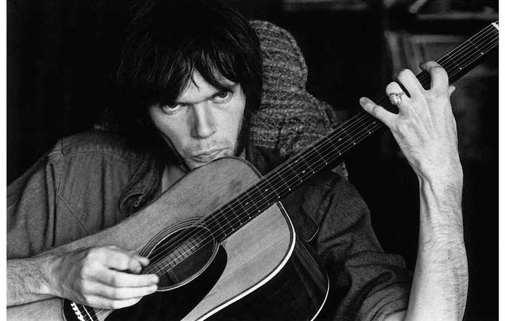 Portrait of Neil Young by Graham Nash