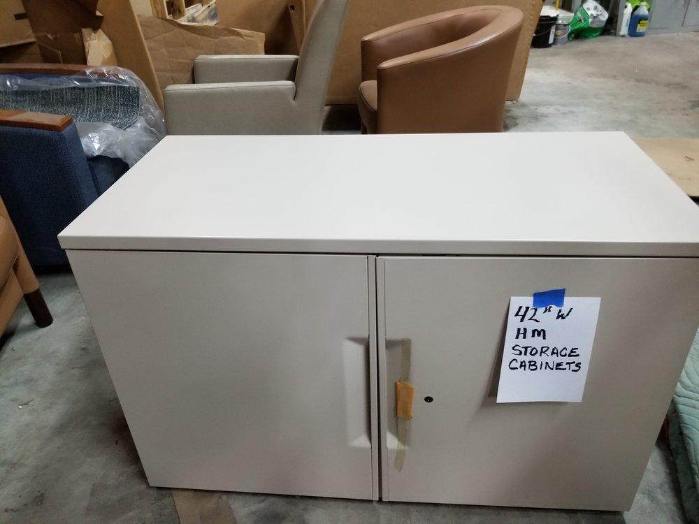 """42"""" 2- Door Storage Unit Herman Miller"""