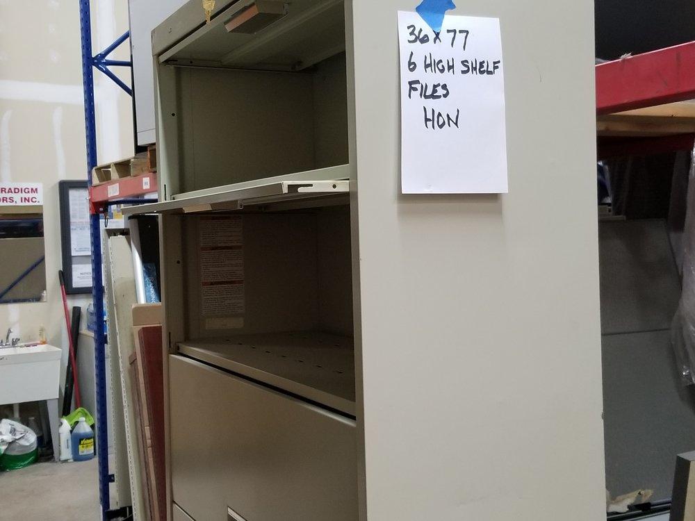 "36"" x 77"" 6 High Shelf Files Hon (1)"