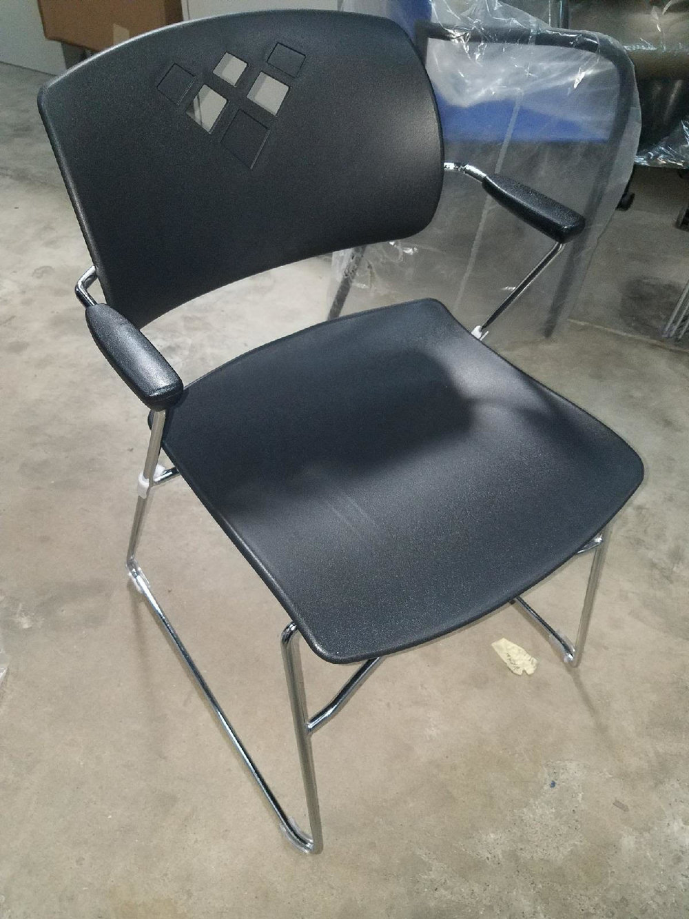 Safco Stack Chairs Qty 4