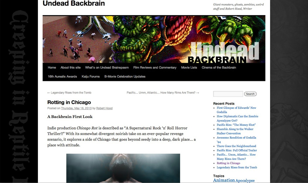 Robert Hood may just be as excited as we are for Chicago Rot. Check out the post from his blog roberthood.net called Undead Backbrain.