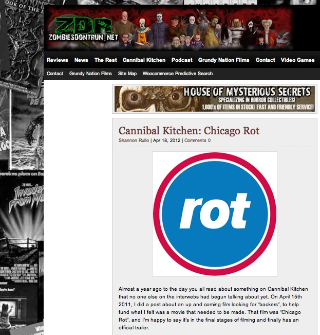 Cannibal Kitchen  showing some Rot Love again, also comes with a free recipe for Rot Pies.