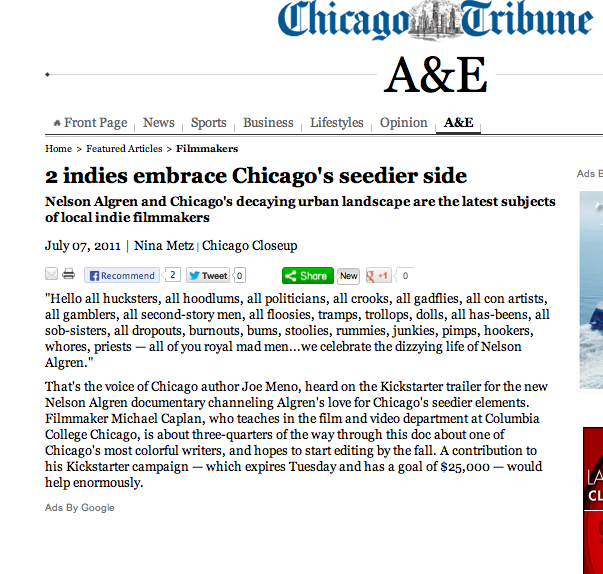 A little love from Nina Metz with the  Chicago Tribune .