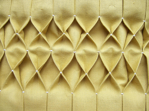 Honeycomb smocking tutorial here