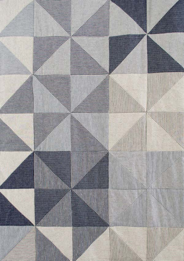 Denim pinwheel quilt from the Purl Bee