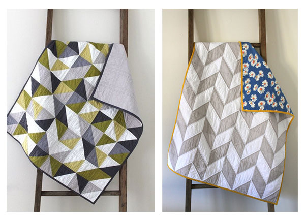 Baby quilts from Crafty Blossom's etsy shop
