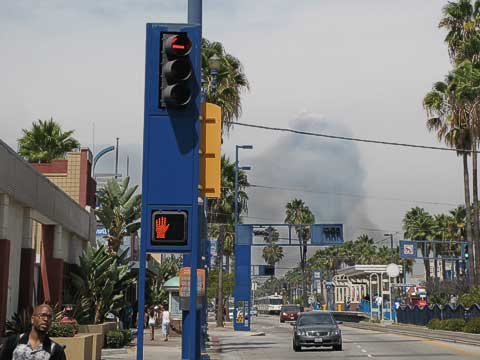 Fires as seen from Long Beach