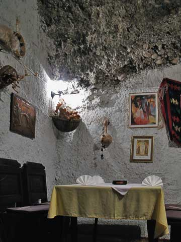 Cave-like dining room