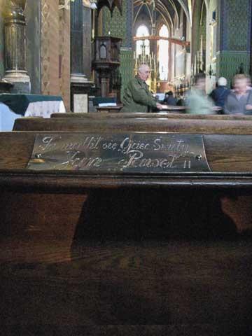 Pope John Paul II's favorite place to pray