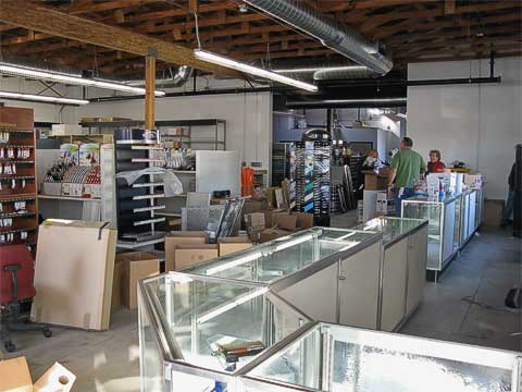Front area of new store