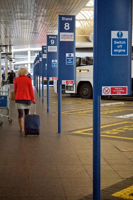 Bus depot at Heathrow.
