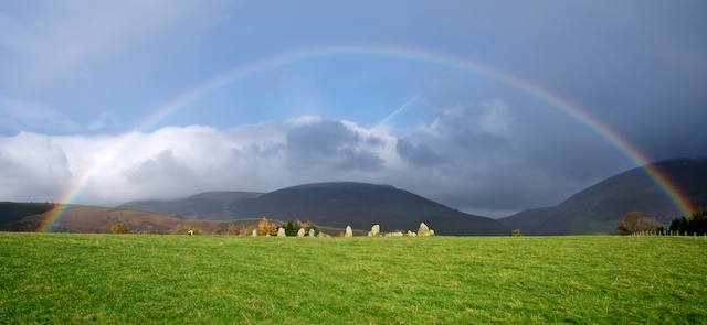 Rainbow over Castlerigg Stone Circle