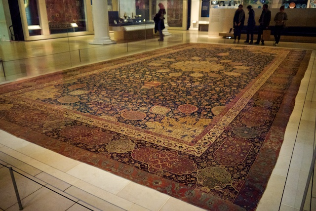 The Ardabil Carpet at the Virginia and Albert Museum