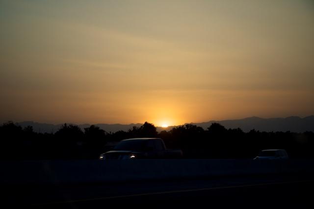 Sunset along I-515