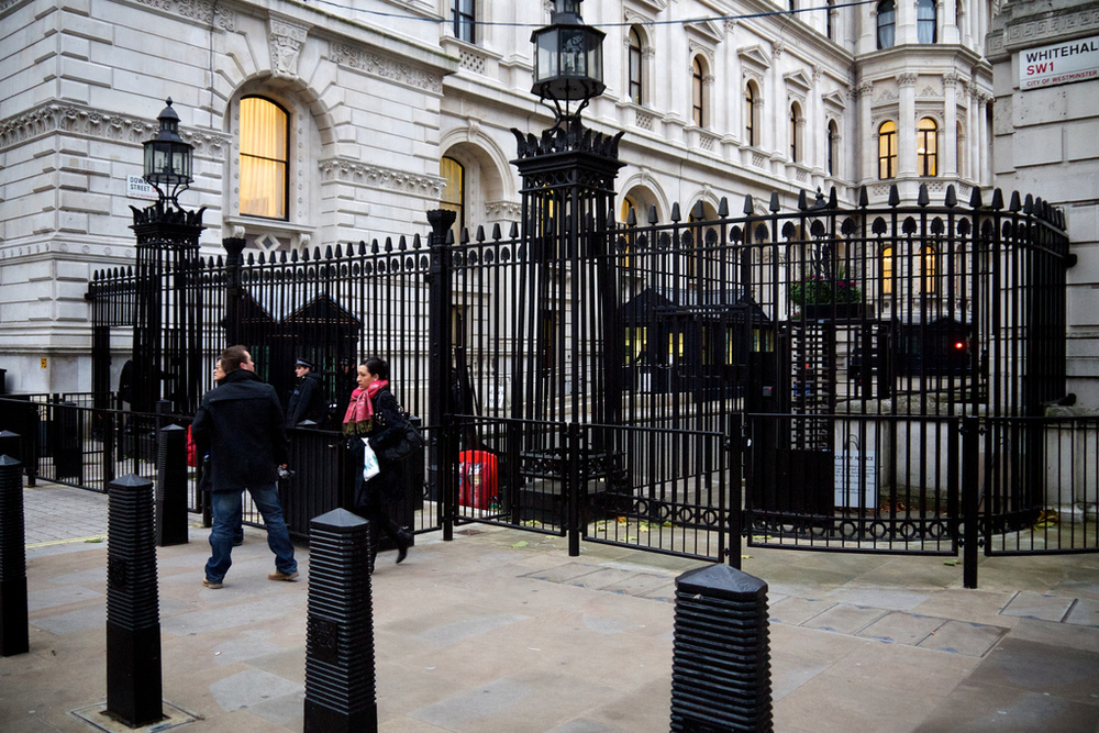 Gates to 10 Downing Street