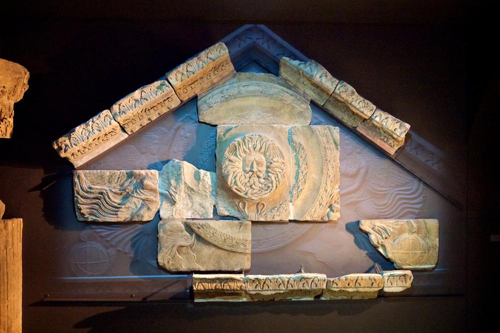 Pediment pieces