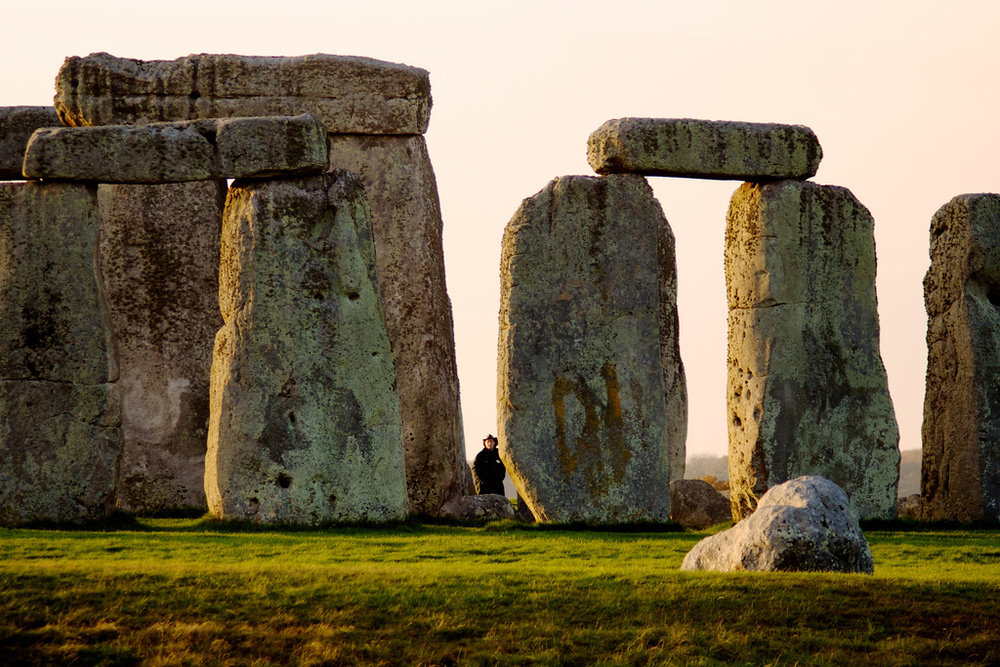Even though the person is several yards behind the stones, you can still get a sense of scale