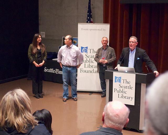 Bettina Hansen, John Lok, Dean Rutz, and David Boardman
