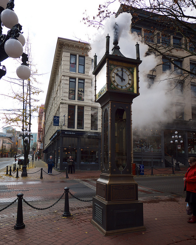 Steam Clock striking 10am
