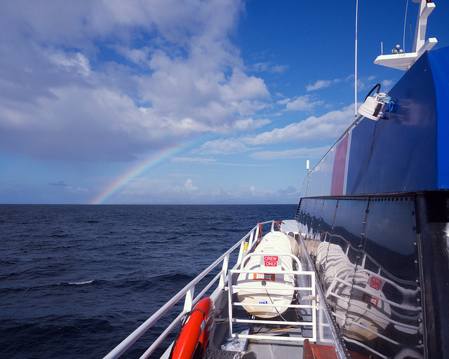 Rainbow while nearing Victoria