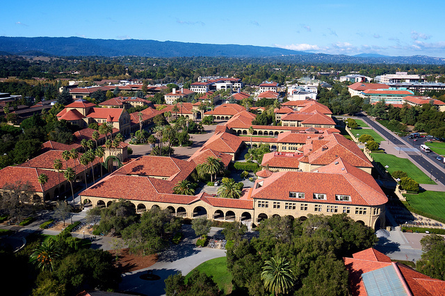 Stanford Quad as seen from Hoover Tower