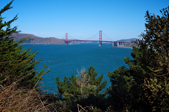 Golden Gate Bridge from Lands End Trail