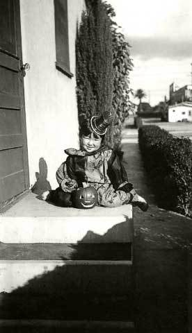 Frances at the Locust St. house, late 1930's