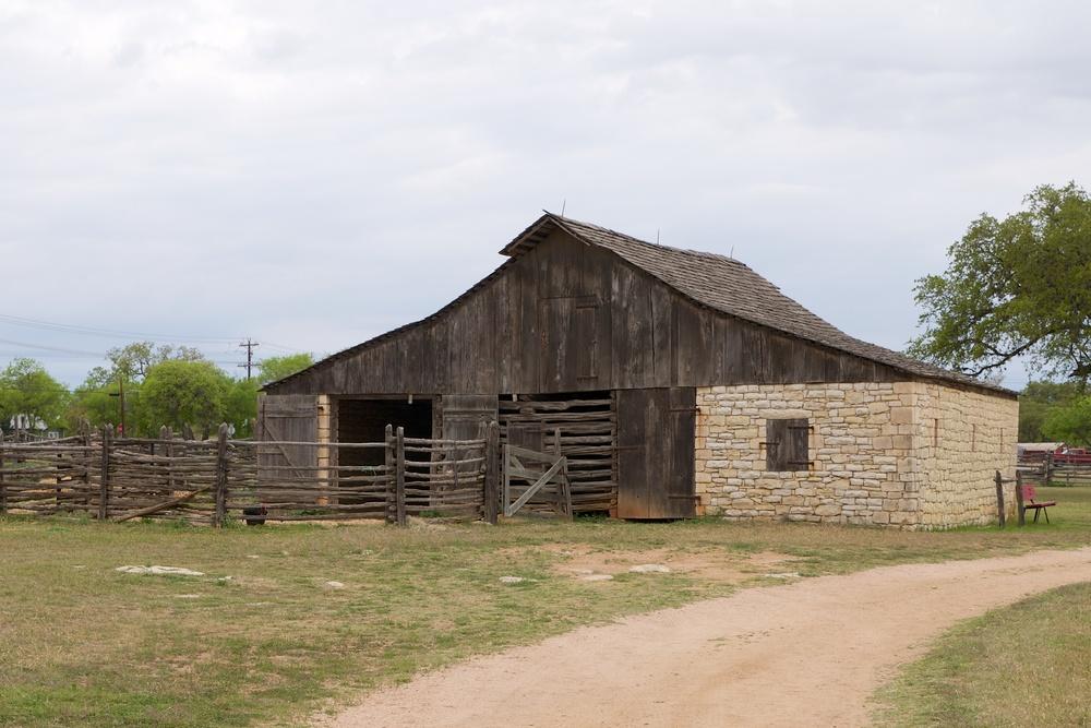 James Polk Johnson Barn at the Johnson Settlement