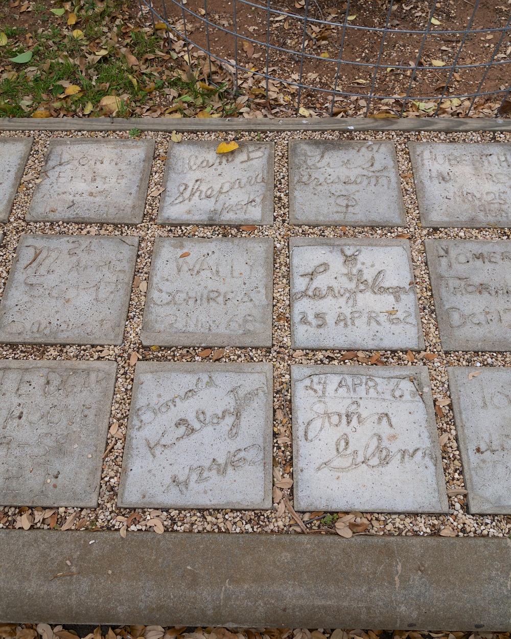 Friendship stones of several astronauts