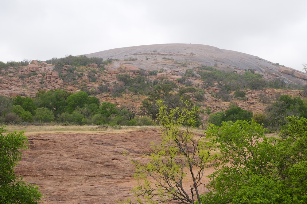 Enchanted Rock (there are two people at the top)