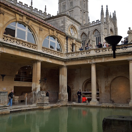 Main pool at the Roman Baths