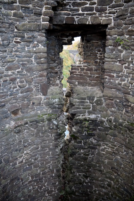 This town wall tower was starting to crack apart