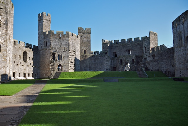 Inside Caernarfon Castle, again looking towards the Queen's Gate