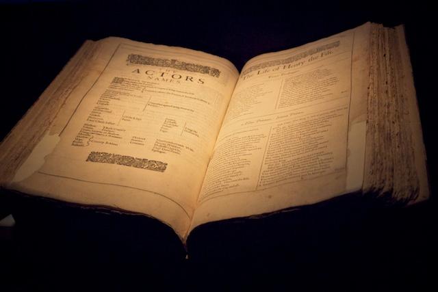 Original Folio of Shakespeare's works