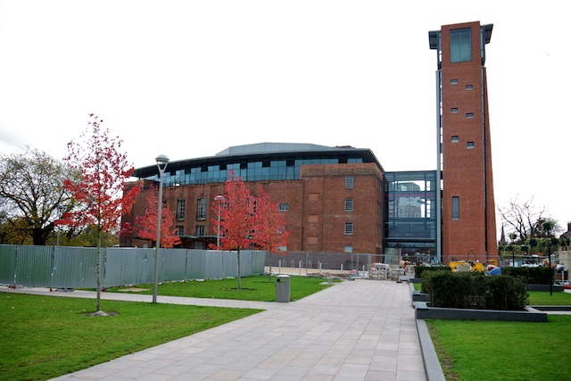 Royal Shakespeare Theatre, nearing completion of construction