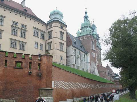 Ramp up to Wawel Hill