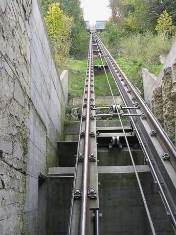 To get to the castle you can either walk up the path or take the relatively new funicular.