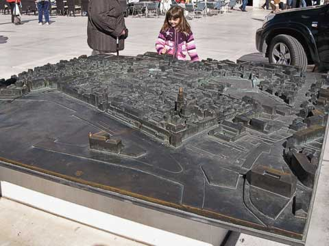 This is a relief map of the Old Town.