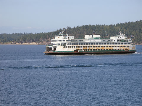 This ferry was going back to Anacortes.