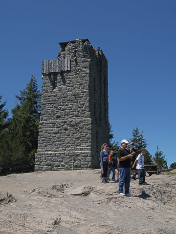 You can go to the top of the watch tower at the summit.