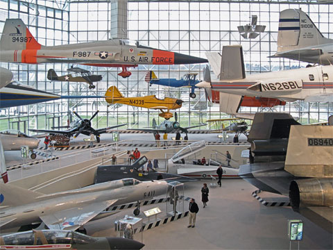 This is just one part of the great gallery, with planes on the ground and hanging in the air.
