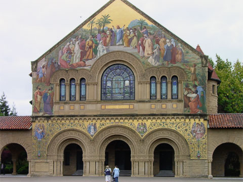 Memorial Church façade.