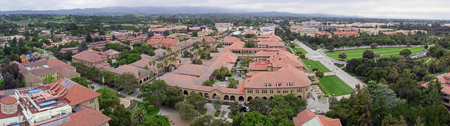Stanford Quad as seen from Hoover Tower.