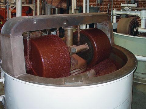 Cocoa grinder at Scharffen Berger.