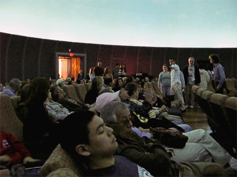 We went to see a show in the redone planetarium. Unlike before, there seemed to be more emphasis on making it a cinematic presentation, and while star projection was part of the show, it seemed to be more a supporting role than center stage. As with elsewhere in the planetarium, the show was packed.