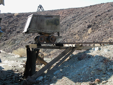 One of the ore carts used in the mines.