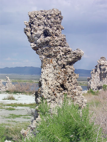 Not all of the tufa looks like columns. This one almost looks like it would belong on Easter Island.