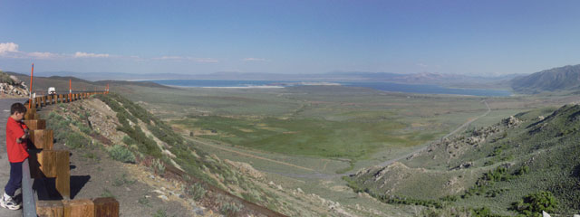 Driving south on US 395, there's a vista point where you can look at Mono Lake. You can also get an idea of how large the lake used to be a long time ago.