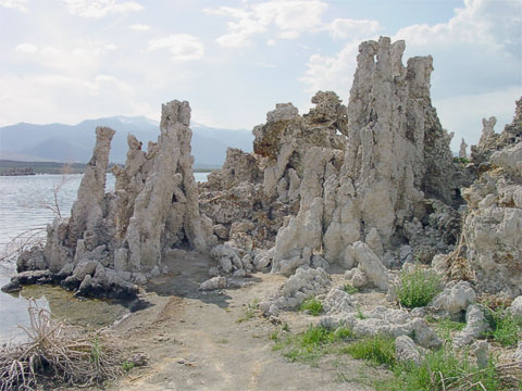 Mono Lake is probably best known for its tufa formations, which are created near where the fresh water inlets meet with the high salinity of the lake water.
